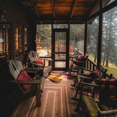 #Cabin Interiors ... #screened porch #porch