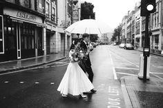 Ruth Atkinson Photography | Autumnal Wedding at St JOHN restaurant in London | Delphine Manivet Prospere Wedding Dress | Burgundy Reiss Bridesmaid Dresses