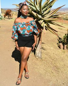 Rural South African young lady African Clothes, Young Women, Shoulder Dress, Lady, Dresses, Style, Fashion, African Outfits, Vestidos