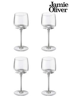 Buy Jamie Oliver 4 Pack Wine Glasses from the Next UK online shop