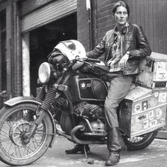 Elspeth Beard the first Englishwoman to circumnavigate the world by motorcycle. 3 years & 48,000 miles