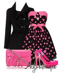 Love the pink and black