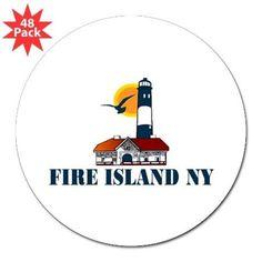 "Fire Island 3"" Lapel Sticker (48 pk) on CafePress.com"