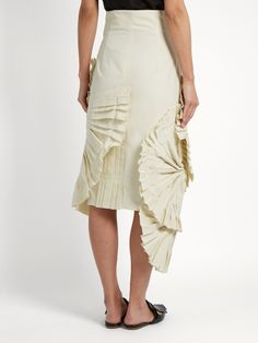 Jacquemus Pleated fan-detail midi skirt
