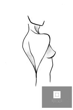 Lady Figure Illustration - Wall Art Prints & Photography - Home Decor Interior Design - Home Avenue Designs Avenue Design, Women Figure, Paper Dimensions, Official Store, Minimalist Art, Decor Interior Design, Decoration, Lady, Stencil