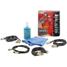 HDTV CLEANING KIT w/ 2 HDMI HIGH DEFINITION CABLES/COMPONENT VIDEO HIGH DEFINITION CABLE/OPTICAL AUDIO HIGH DEFINITION CABLE