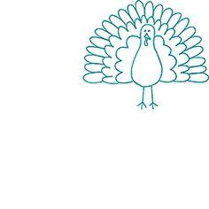 Sketch Turkey Rubber Stamp
