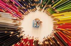The collection of all the pencils from the last 12 years that my son has been at school. Reflection Photography, Make Me Smile, Class Ring, Pencil, School, Creative, Collection