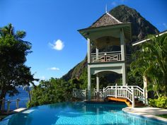 Can't believe there's really a place like this...Dining Room at Arc en Ciel, St Lucia