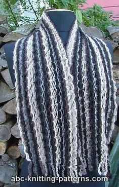 Ravelry: Chain Scarf with Crochet Fringe pattern by Elaine Phillips