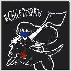#NegroMataPacos | El arte detrás de un símbolo de revolución social Power Girl, Latin America, Fantasy Creatures, Drawing Tips, Chile, Stencils, Drawings, Socialism, Frases