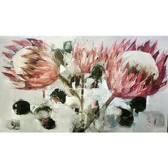 Proteas  91x152cm Nicole PLETTS Nicoleplettsfineart.com  #artwatchers #artoftheday #inspiration #nicolepletts #artwork #contemporaryart #colour #artist #artistic #painting #paint #art_for_breakfast #art #artwork #instagram #protea #proteas #pink #artlovers #oilpaint  #beautiful Art Flowers, Flower Art, Art Day, Painting Inspiration, Contemporary Art, Paintings, Colour, Abstract, Breakfast
