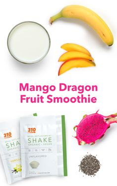 Full of whole foods, this smoothie has 18g of plant-based proteins and 10g of dietary fiber to nourish your body in a totally vegan-friendly and gluten-free way. Dragon Fruit Smoothie, Fruit Smoothies, Protein Shake Recipes, Protein Shakes, Whole Food Recipes, Healthy Recipes, Nutrition Products, Fruity Drinks, Meal Replacement Shakes
