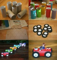 Tractor Popsicle Stick Craft For Kids Kids Crafts, Popsicle Stick Crafts For Kids, Toddler Crafts, Craft Stick Crafts, Diy And Crafts, Cars Birthday Parties, 2nd Birthday, Cardboard Box Crafts, Paper Crafts