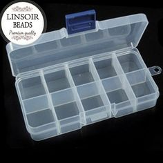 Round Plastic Tool Box Case 13 cells Jewelry Rings Craft Organizer