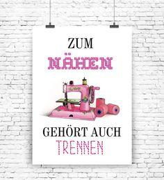 """""""Zum+Nähen...""""+Kunstdruck++von+MilaLu+auf+DaWanda.com"""