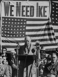The more things change, the more they stay the same...  Dwight D. Eisenhower Speaking During Campaign