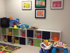 Playroom organization.
