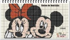 Mickey E Minnie Mouse, Mickey Mouse Characters, Disney Characters, Cross Stitch Charts, Cross Stitch Patterns, Beading Patterns, Crochet Patterns, Looney Tunes, Ale