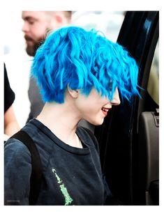 Hayley Williams Hair Blue