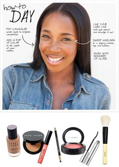 Go for a natural and radiant with this everyday look.