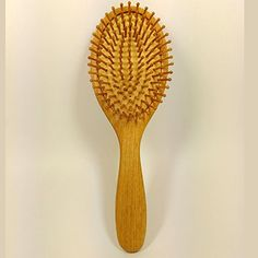 AnHua® High Quality Natural Wood Bristle Hairbrush Wooden Massage Hair Brush Hair Comb Cushion ** You can get additional details at the image link. #hairtreatment