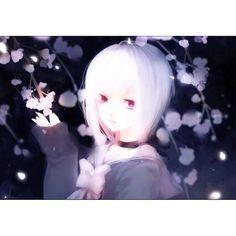 【darkestkitty】さんのInstagramをピンしています。 《☄ #sakura #cherryblossom #cherryblossoms #anime #animated #picture #drawing #animation #whitehair #pretty #kawaii》