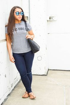 Top: Sub Urban Riot | Jeans: TopShop | Sunnies: BP | Watch: Michael Kors | Bag: Charming Charlies | Earrings: Nordstrom I'm all about cute graphic tees.  Anything that has a cute …