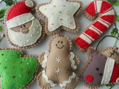 Hey, I found this really awesome Etsy listing at http://www.etsy.com/listing/107070167/ginger-felt-christmas-ornaments-felt