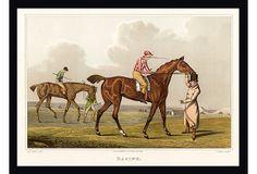 Vintage Jockey Framed Print