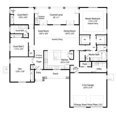 House Plan Montclair - Energy Smart Home Plans smarthome Dream House Plans, House Floor Plans, Dream Houses, Custom Home Designs, Custom Homes, Architectural Design House Plans, Architecture Design, Murphy Bed Plans, Open Concept Kitchen