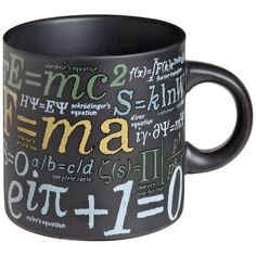 Check out the Mathematical Formulas Mug, great for the math nerds in your life! #math #coffee #mugs