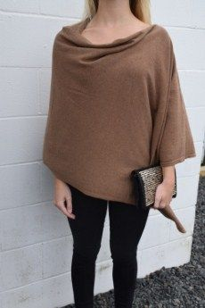 Project 100% Cotton Poncho | 2 available, tan | Primary View | Tangerine Boutique
