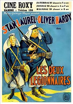 Laurel & Hardy - 'The Two Legionnaires' (French Poster) - Fantastic A4 Glossy Print Taken From A Vintage Movie Poster by Design Artist http://www.amazon.co.uk/dp/B00LQC9JMQ/ref=cm_sw_r_pi_dp_eExwvb14M8HT6