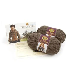Kit includes Lion Brand Wool-Ease Thick  and  Quick, 2 balls in Barley, easy to follow pattern, skill level Easy Finished garment dimensions: Circumference About 40 in. (101.5 cm) and  Height about 8