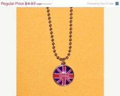 ON SALE London Necklace 18 inch Adjustable by RoseyJohnny on Etsy, $4.72