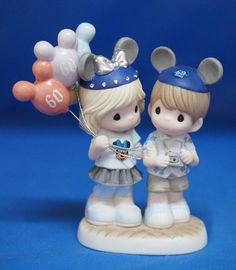 Disneyland 60th Anniversary 60 Years of Happiness Precious Moments Figure Signed #PreciousMoments
