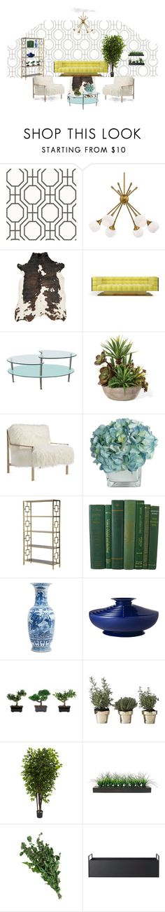 """""""Being Botanical"""" by bootsiestyle ❤ liked on Polyvore featuring interior, interiors, interior design, home, home decor, interior decorating, George Kovacs by Minka, Alexander, Walker Edison and Axel"""