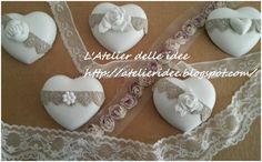 Cuori polvere di ceramica