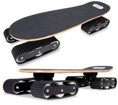 Rockboard Descender Skateboard Moves with Tank Treads
