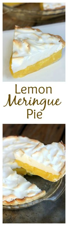 Fool-proof Lemon Meringue Pie with tips to avoid weeping and make the perfect meringue! Recipe on TastesBetterFromScratch.com