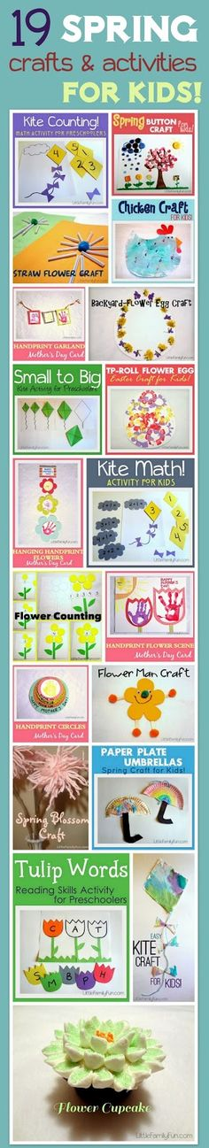Lots of fun and easy SPRING activities and crafts for kids!