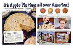 Betty Crocker Apple Pie, Apple Pie Crust, Cooking Quotes, Ice Cream Candy, Magazine Spreads, Apple Pie Recipes, Oldies But Goodies, Vintage Recipes, Dessert Recipes
