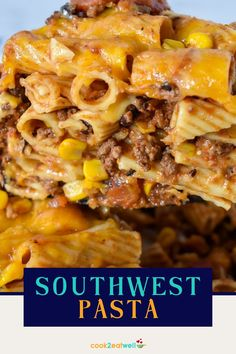 Southwestern pasta makes a satisfying meal that will feed a crowd. In this recipe, rigatoni pasta is combined with ground beef seasoned with southwestern-inspired spice blend and simmered with tomatoes, black beans and corn. The pasta and sauce are combined, topped with cheese and baked until melted. It's a flavorful, affordable dinner that will please the whole family. Cooking For Beginners, Cooking Tips, Ground Beef Seasoning, Easy Family Dinners, Rigatoni, Feeding A Crowd, Learn To Cook, Black Beans, Quick Meals