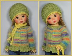 Sweater, Hat and Scarf for Saffi by Meadowdolls Maggie & Kate Create