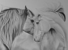 Excited to share the latest addition to my #etsy shop: HORSE WHISPERS A2 size original drawing in graphite on Bristol board. (A3 size Prints hand finished & signed also available) http://etsy.me/2zpWSYJ #art #drawing #black #birthday #christmas #white #horsedrawing #horses #black
