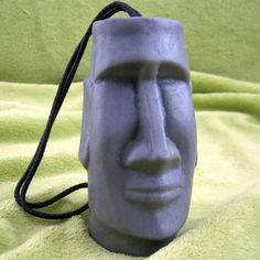 Oh MOAI Head EASTER ISLAND God Soap on a Rope by bubblegenius