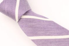 NWT New J Crew Purple Striped Skinny Linen Cotton Blend mens Tie #JCrew #NeckTie