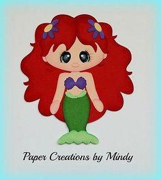Craftecafe Mindy Princesa Ariel prefabricados Paper Piecing Para Scrapbook página Álbum