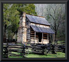 """CADES COVE """"One of the oldest log homes in the park, the Oliver place remained in the family until the park was established. John Oliver, Cades Cove, Abandoned Houses, Old Houses, Tiny Houses, Log Cabin Homes, Log Cabins, Rustic Cabins, Pond Design"""